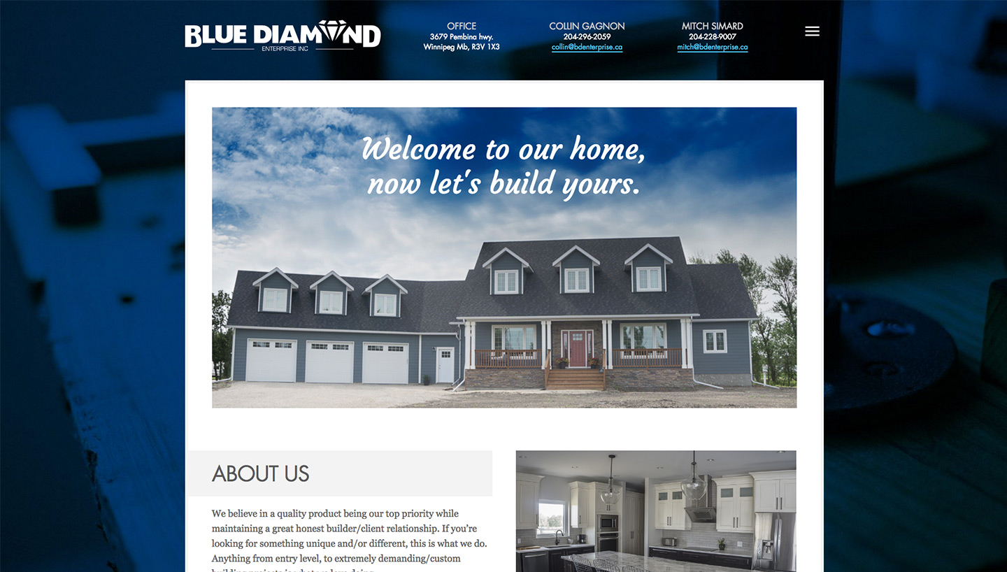 Blue Diamond Enterprise Website