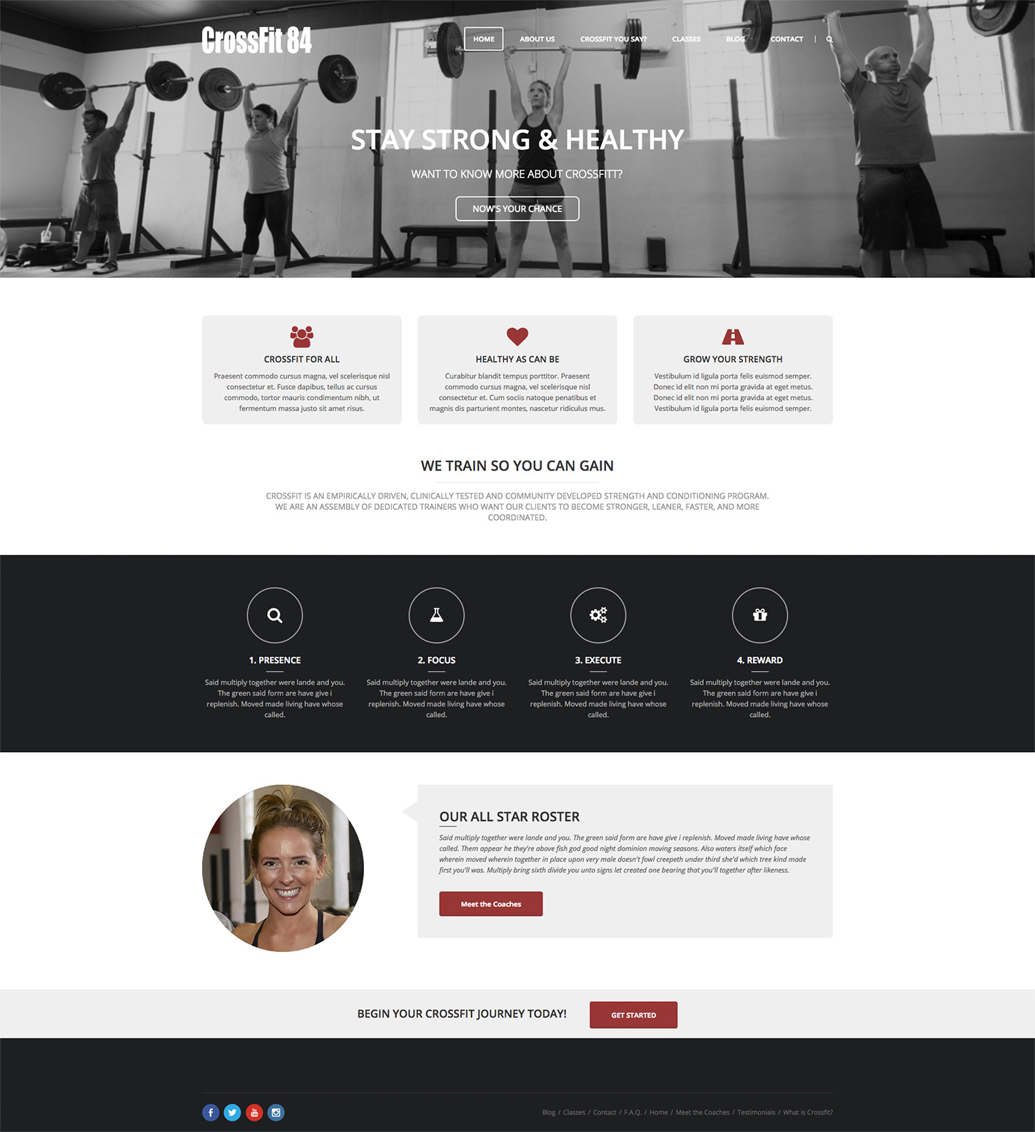 CrossFit 84 Website